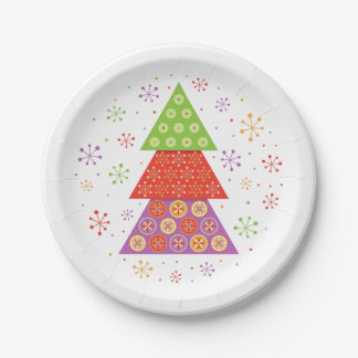 Decorative Christmas fir tree Paper Plate