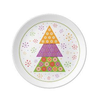Decorative Christmas fir tree Plate