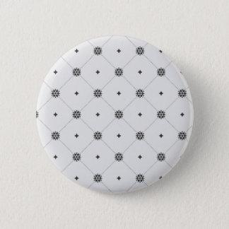 Decorative Christmas Geometric Snowflakes Pattern Pinback Button