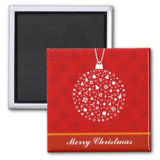 Decorative Christmas Ornament Design 2 Inch Square Magnet