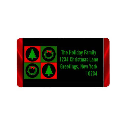 Decorative Christmas Return Address Labels