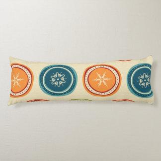 Decorative Christmas Snowflakes & Colorful Circles Body Pillow