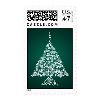 Decorative Christmas Tree Stamps