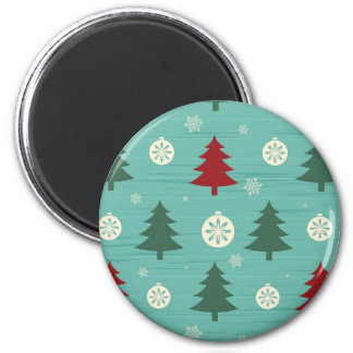 Decorative Christmas Trees and Christmas Ornaments Fridge Magnets