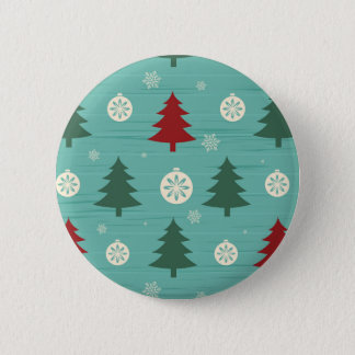 Decorative Christmas Trees and Christmas Ornaments Pinback Button
