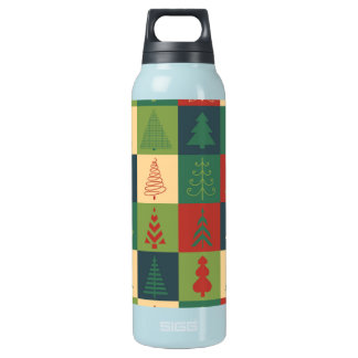 Decorative Christmas Trees Pattern Insulated Water Bottle