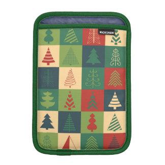 Decorative Christmas Trees Pattern Sleeve For iPad Mini