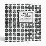 Decorative Circles - Black and White 3 Ring Binder