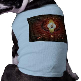 Decorative clef on elegant background dog shirt