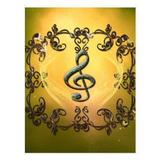Decorative clef postcard