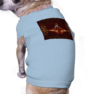 Decorative clef with awesome light effects doggie t-shirt