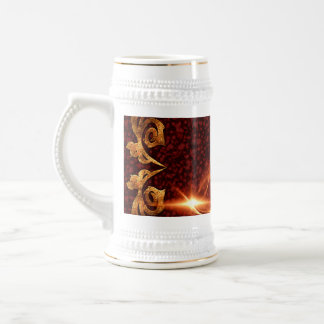 Decorative clef with awesome light effects 18 oz beer stein