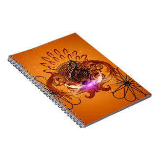 Decorative clef with awesome light effects note books