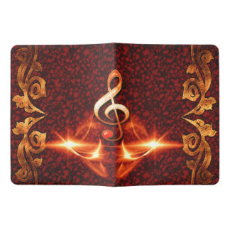 Decorative clef with awesome light effects extra large moleskine notebook cover with notebook