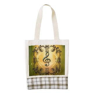 Decorative clef zazzle HEART tote bag