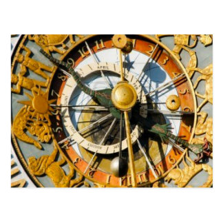 Decorative clock, Oslo City Hall Postcard