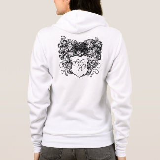 Decorative, Coat of Arms Monogram Hoodie