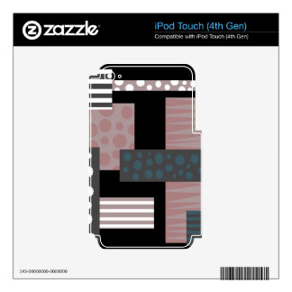 Decorative collage decal for iPod touch 4G