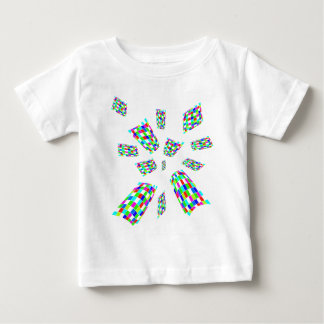 Decorative colorful cubes baby T-Shirt