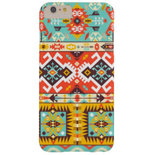 Decorative colorful pattern in aztec style barely there iPhone 6 plus case
