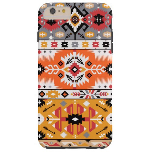 Decorative colorful pattern in aztec style tough iPhone 6 plus case