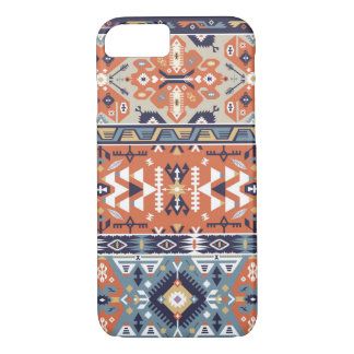 Decorative colorful pattern in aztec style iPhone 7 case
