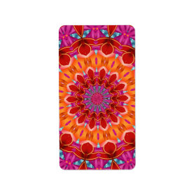Decorative colorful pattern personalized address labels
