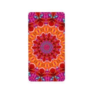 Decorative colorful pattern label