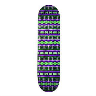 Decorative colorful pattern skateboard deck