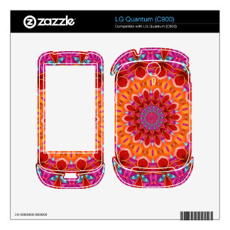 Decorative colorful pattern decal for LG quantum