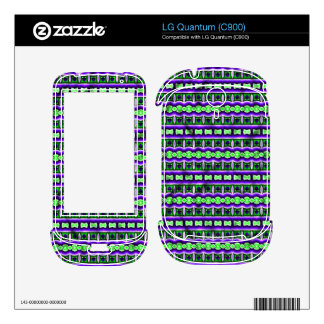 Decorative colorful tribal pattern skin for the LG quantum