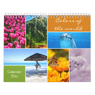 Decorative Colors Of The World Calendar