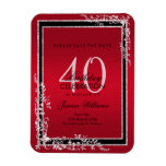 Decorative Corners Ruby & Black Birthday Magnet
