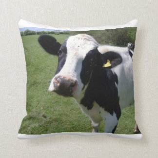 Decorative cow pillow