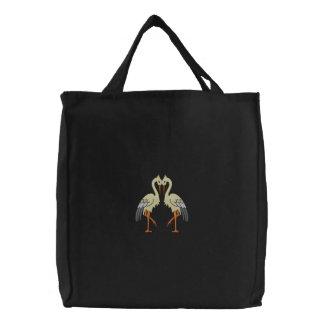Decorative Crane Twin Birds Bags