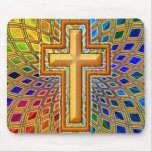 DECORATIVE CROSS MOUSE PAD