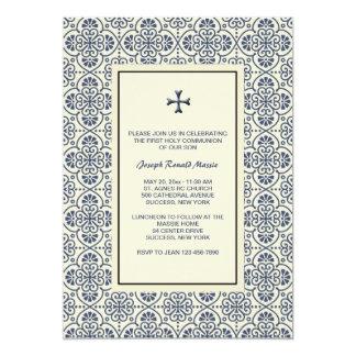 Decorative Cross Religious Invitation