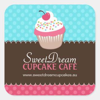 Decorative Cute Cupcake Jar Stickers
