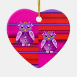 Decorative cute ornament with owls