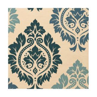 Damask Wall Art pattern design decorative designer wood wall art | zazzle
