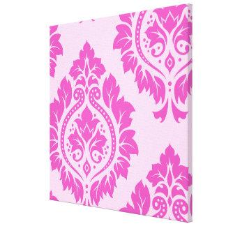 Decorative Damask Art I – Dark on Light Pink Gallery Wrap Canvas