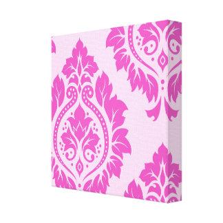 Decorative Damask Art I – Dark on Light Pink Gallery Wrapped Canvas