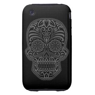 Decorative Dark Sugar Skull iPhone 3 Tough Cases