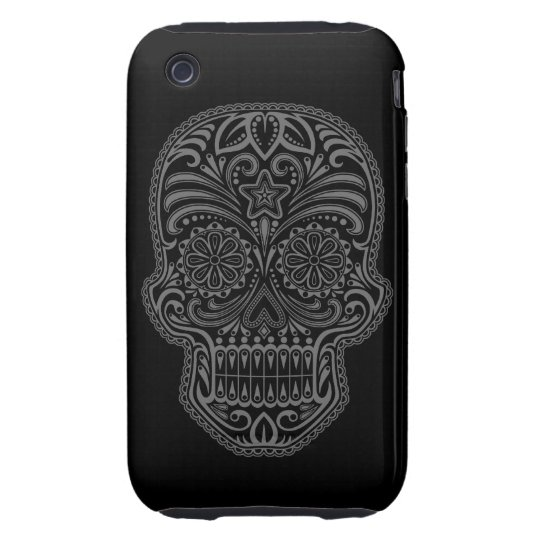 Decorative Dark Sugar Skull iPhone 3 Tough Cover