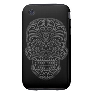 Decorative Dark Sugar Skull Tough iPhone 3 Case