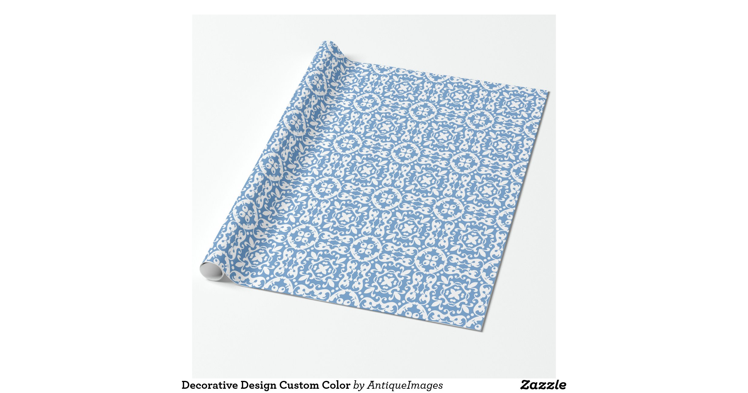 Decorative design custom color wrapping paper