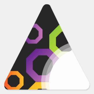 Decorative design element triangle sticker