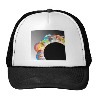 Decorative design element trucker hat