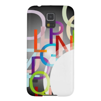 Decorative design element with colorful alphabets case for galaxy s5