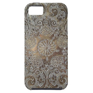 Decorative Design Flowers Metal iPhone 5 Cover